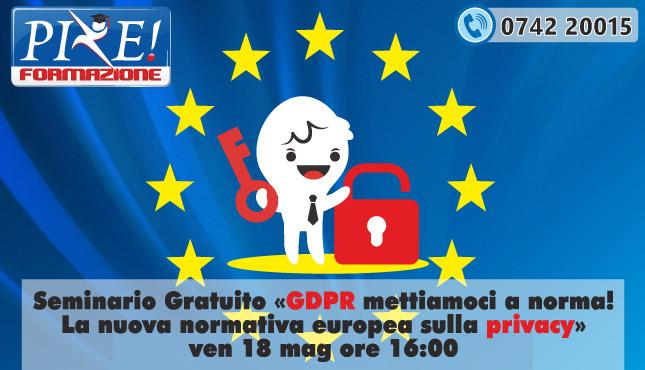 seminario gratuito GDPR privacy a Foligno