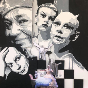 David Pompili_ 2018_Sayk Lindsay Kemp acrilico su cartone