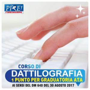 corso DATTILOGRAFIA personale ata